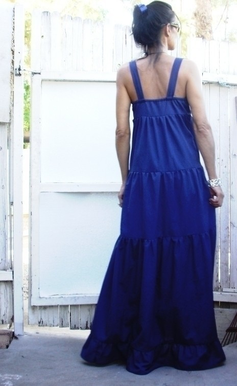 G S Tiered Maxi 183 A Strappy Dress 183 Dressmaking On Cut Out