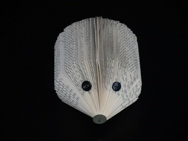 Book Hedgehog How To Make A Piece Of Book Art Paper