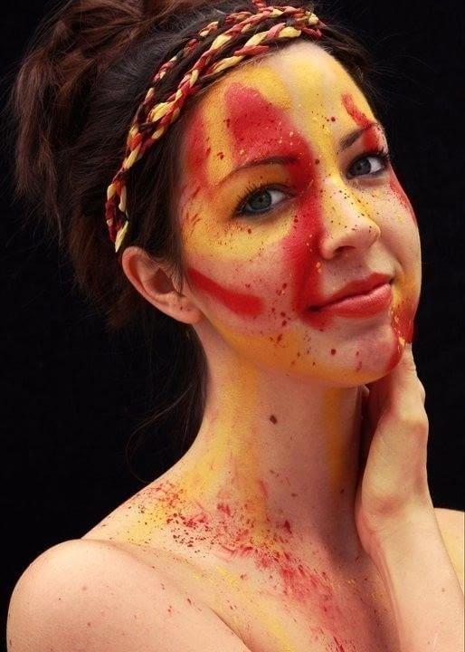 Splatter Face A Face Painting Art MakeUp Techniques