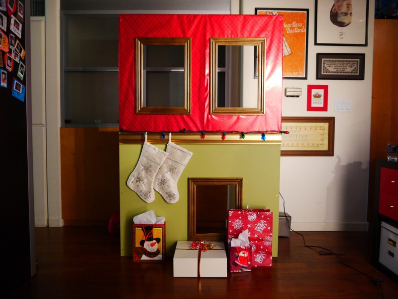 Diy Holiday Photo Wall Photo Booth How To Make A
