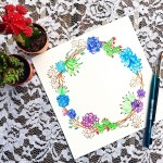 Watercolor Succulent Tutorial How To Paint A Piece Of Watercolor Art Art On Cut Out Keep