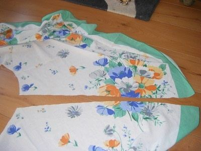 How To Recycle A Table Cloth Into Skirt Make Full Circle Step 4