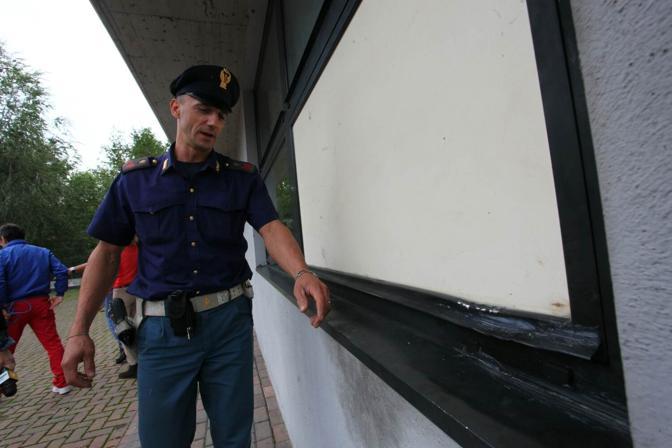 La sede veronese di Equitalia e i controlli della polizia