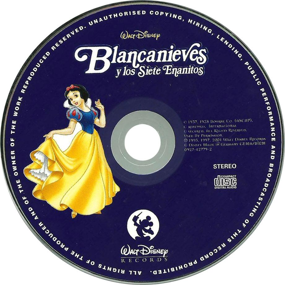 Carátula Interior Trasera de Bso Blancanieves Y Los Siete Enanitos