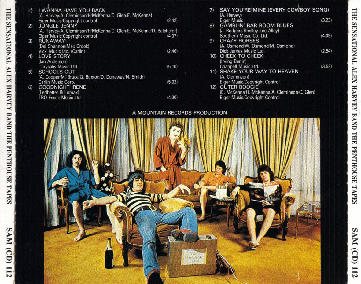 Cartula Trasera De The Sensational Alex Harvey Band The