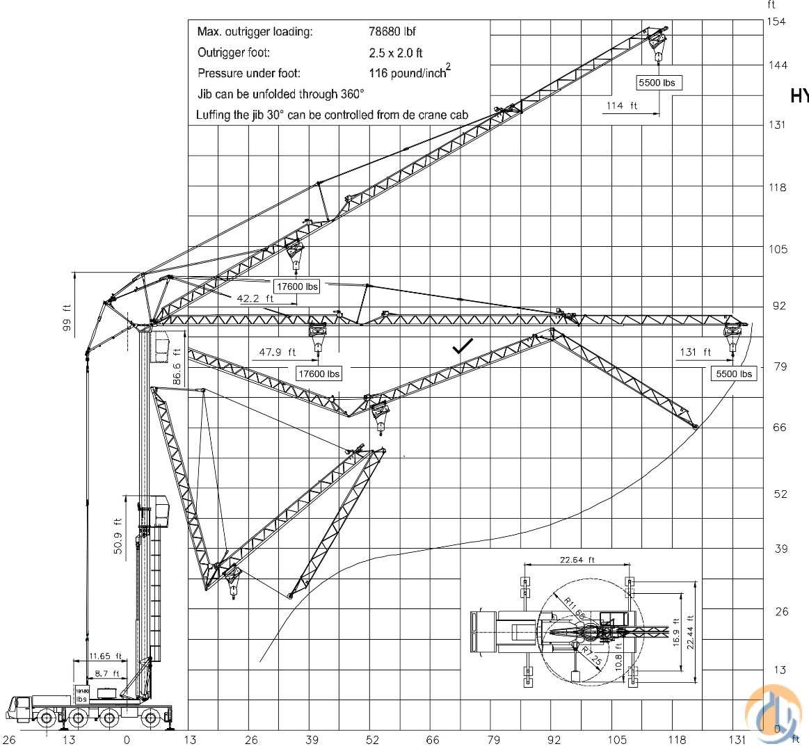 Mobile Tower Crane Luffing Jib Crane For Sale On
