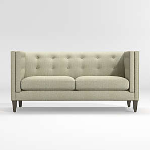 high back sofas crate and barrel