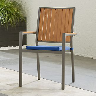 Alfresco Ii Natural Dining Arm Chair With Sunbrella Cushion