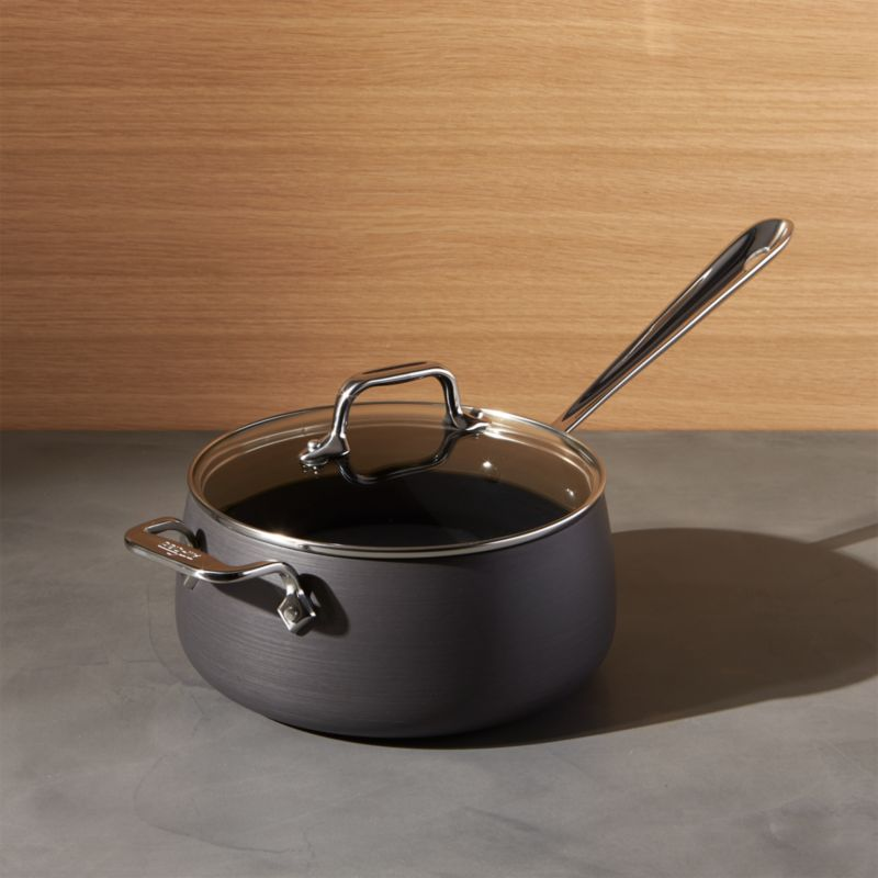 All Clad HA1 Hard Anodized Non Stick 35 Qt Sauce Pan