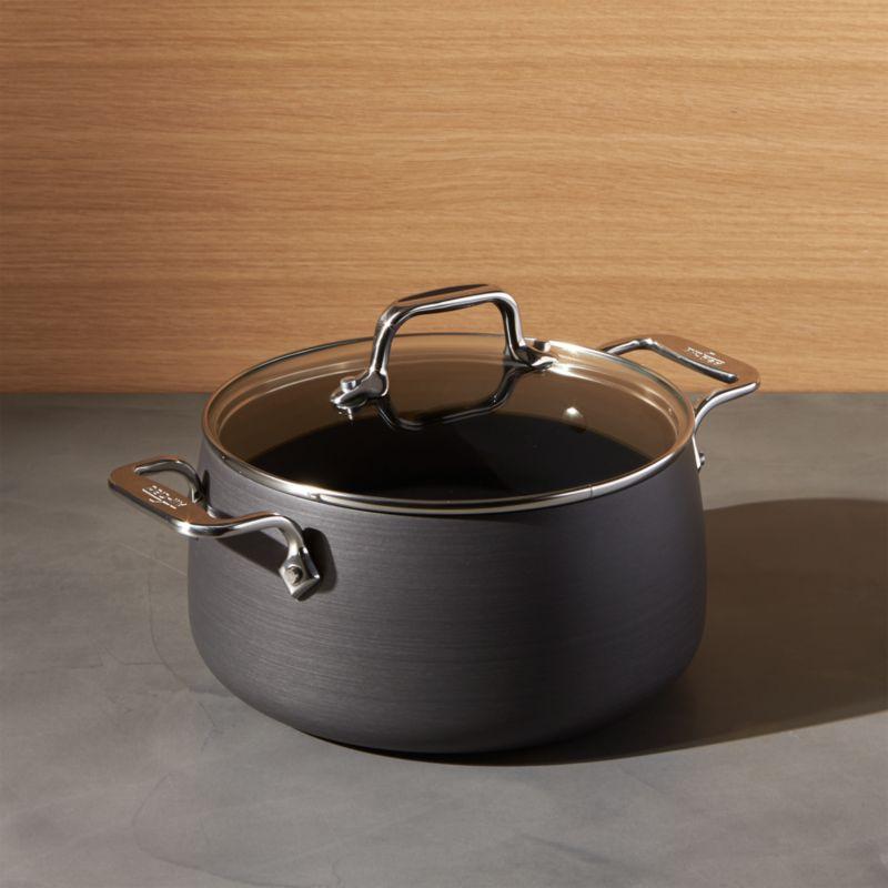 All Clad HA Hard Anodized Non Stick 4 Qt Soup Pot With