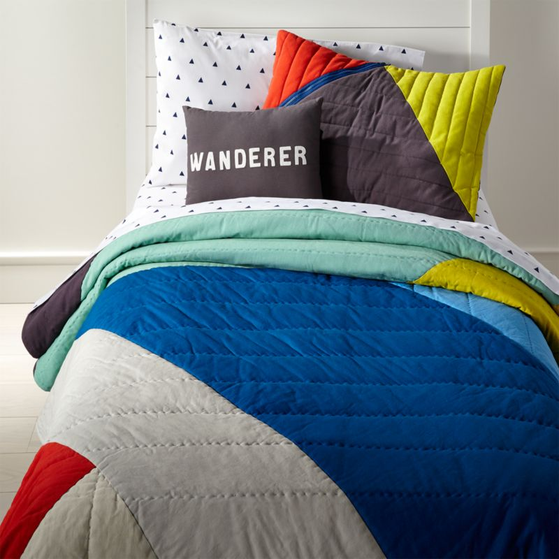 Color Block Bedding Crate And Barrel