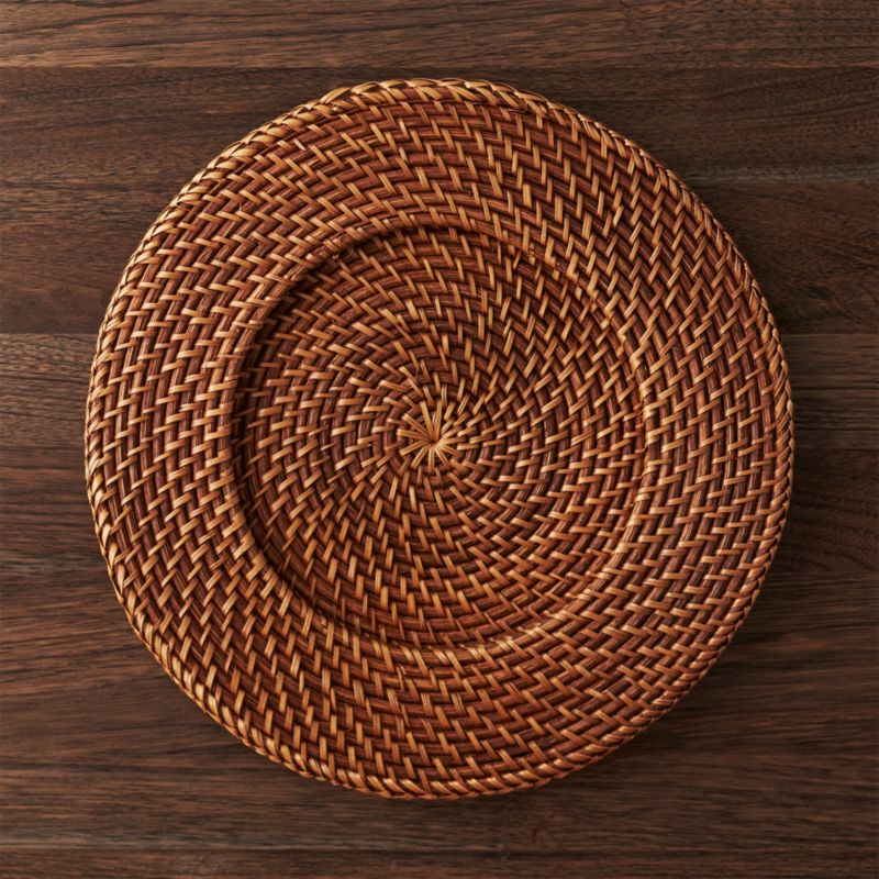 Artesia Honey Rattan Charger Plate Reviews Crate And