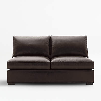 axis ii leather armless full sleeper sofa crate and barrel