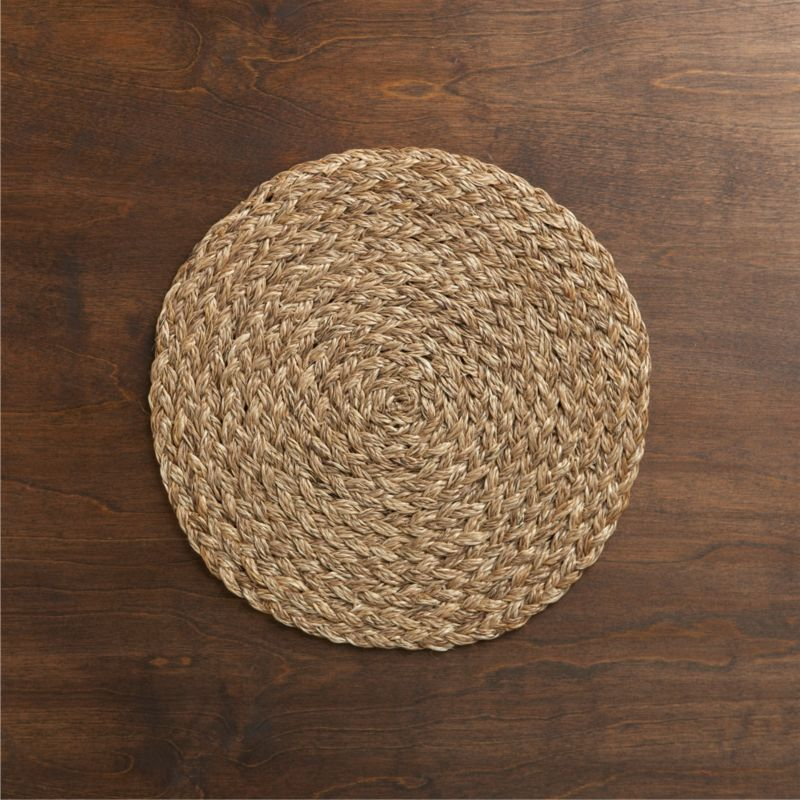 Placemats Round Woven Leather