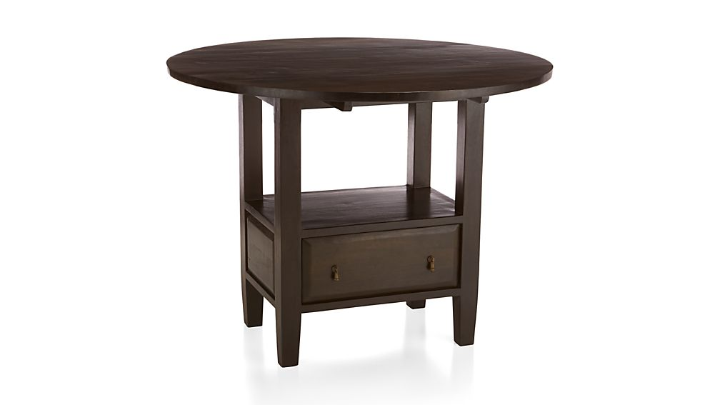 Basque Java Round High Dining Table Crate And Barrel