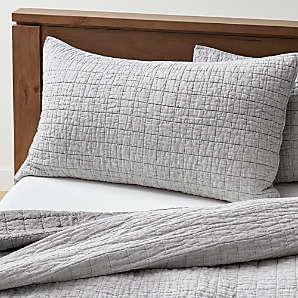 gray king pillow shams online