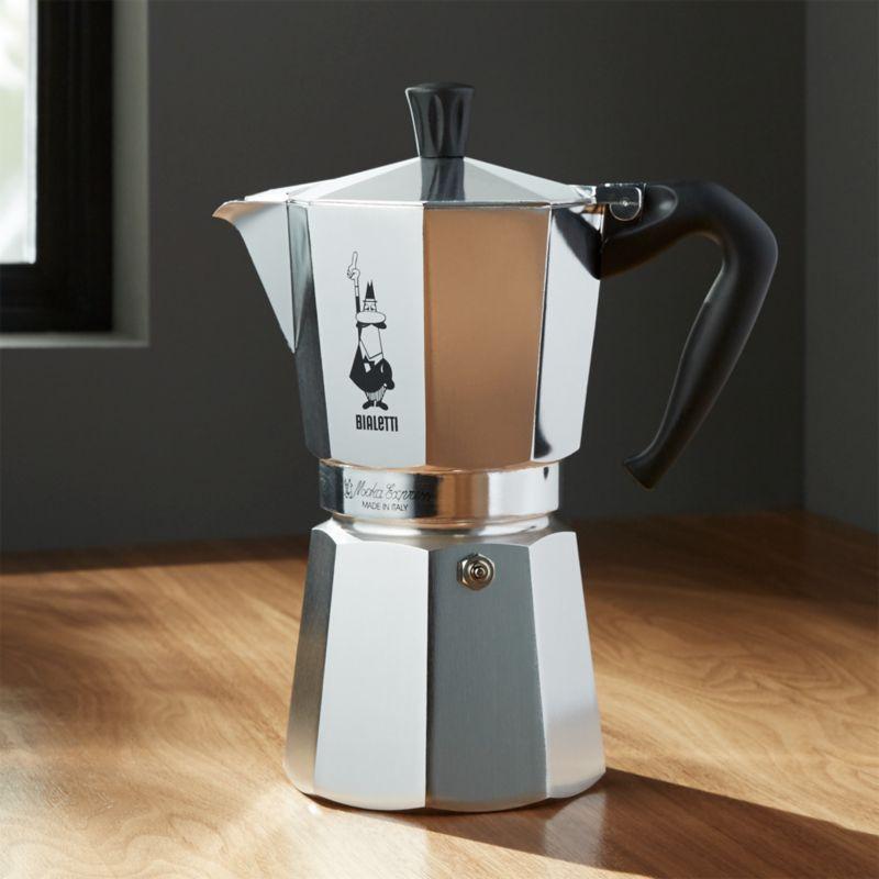 Bialetti Moka Aluminum 9 Cup Espresso Maker Crate And