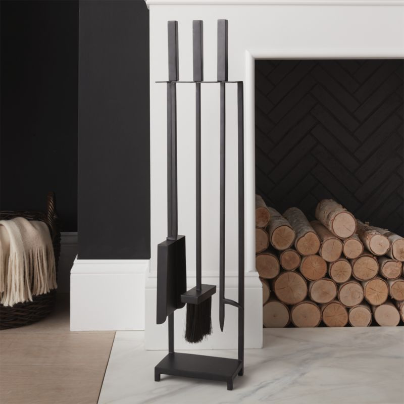 Black Fireplace Tools Reviews Crate And Barrel