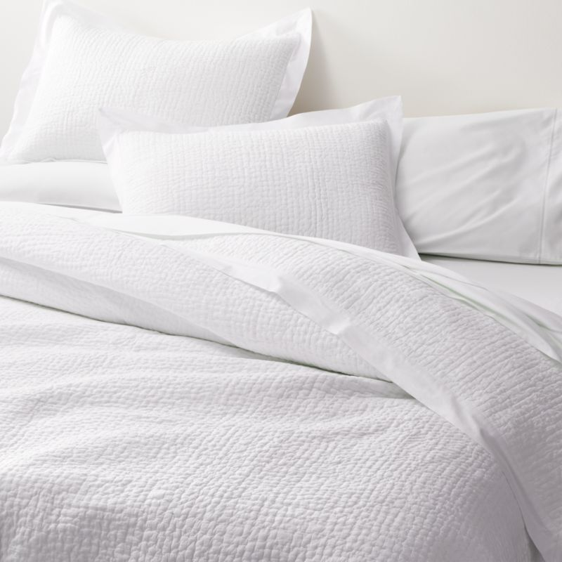 celeste white solid quilt king reviews crate and barrel