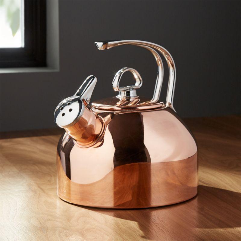 Chantal Classic Copper Tea Kettle Reviews Crate And Barrel