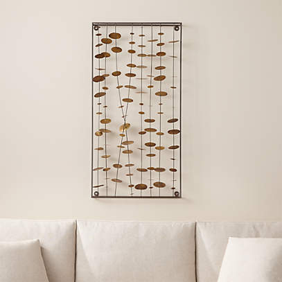 Chimes Metal Wall Sculpture Reviews Crate And Barrel