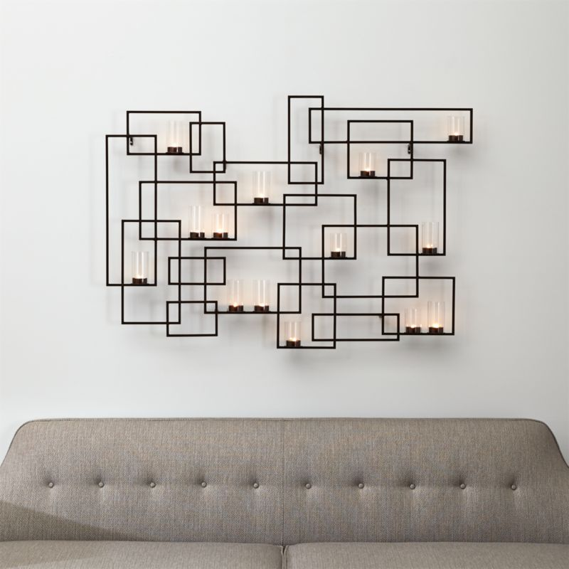 Circuit Metal Wall Candle Holder Reviews Crate And Barrel