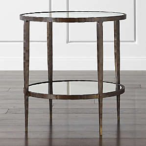 contemporary side tables crate and barrel