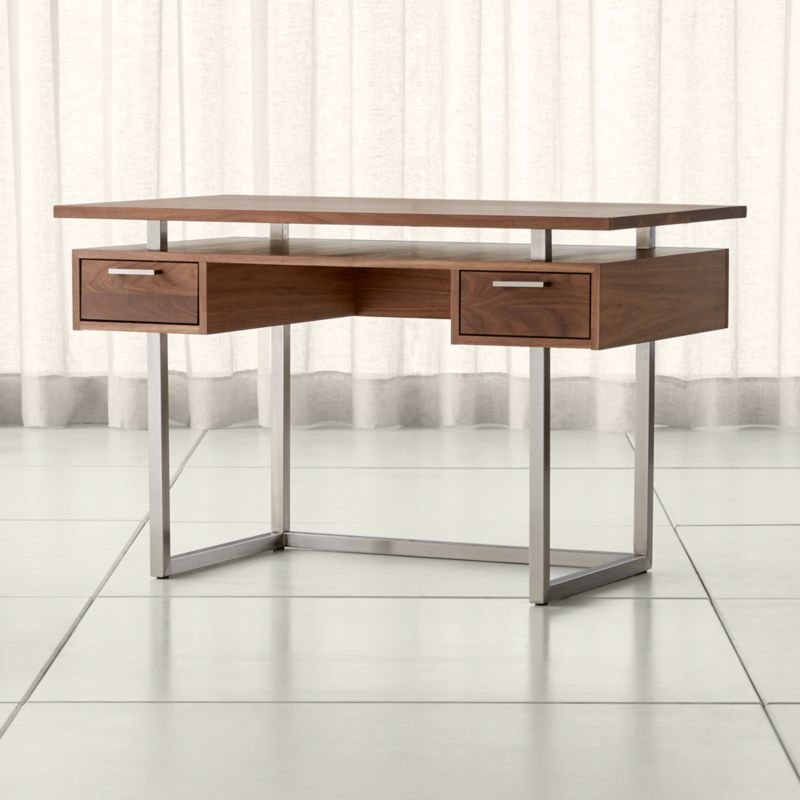 Clybourn Walnut Writing Desk Reviews Crate And Barrel