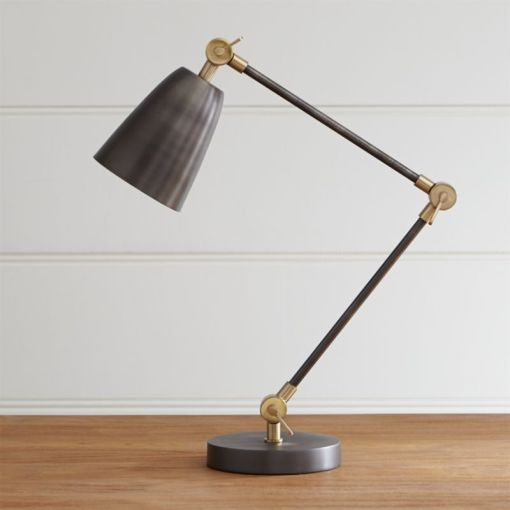 Cole Stainless Steel Desk Lamp   Reviews   Crate and Barrel