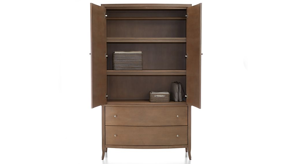 Colette Driftwood Armoire Crate And Barrel