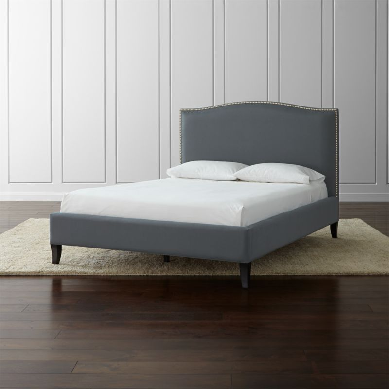 Colette Grey Upholstered Bed Crate And Barrel