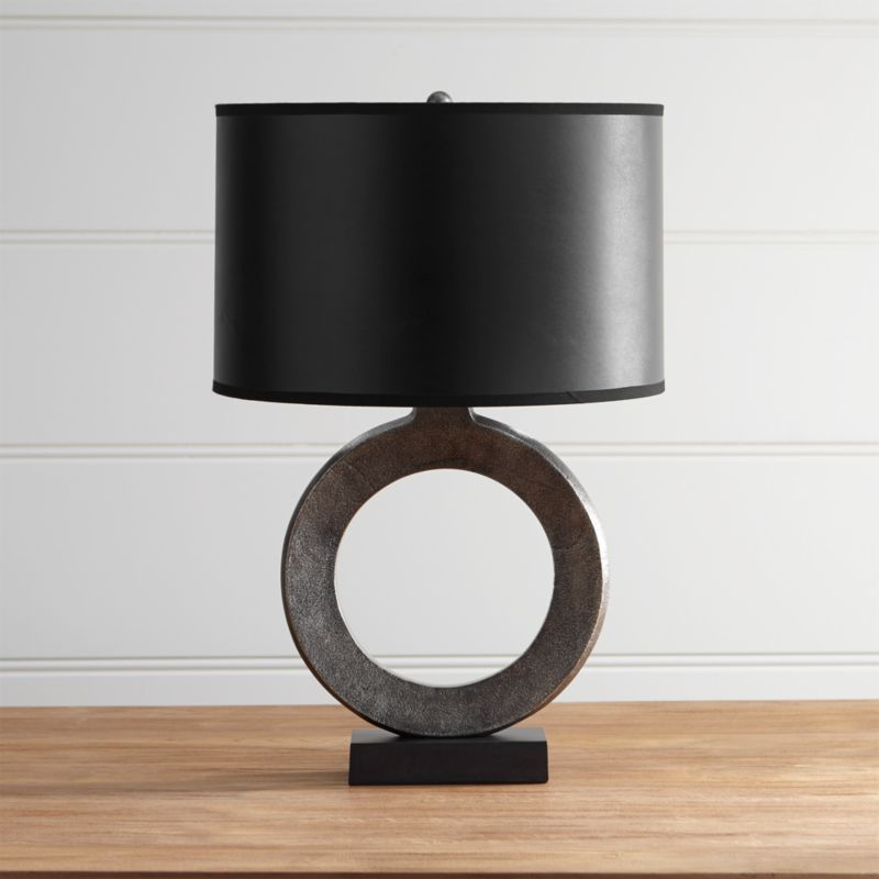 Crest Table Lamp With Black Shade Reviews Crate And Barrel