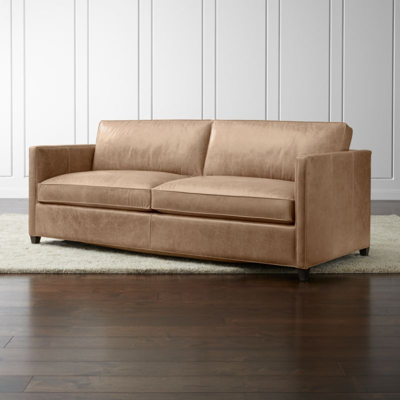 Dryden Leather Sofa Reviews Crate And Barrel
