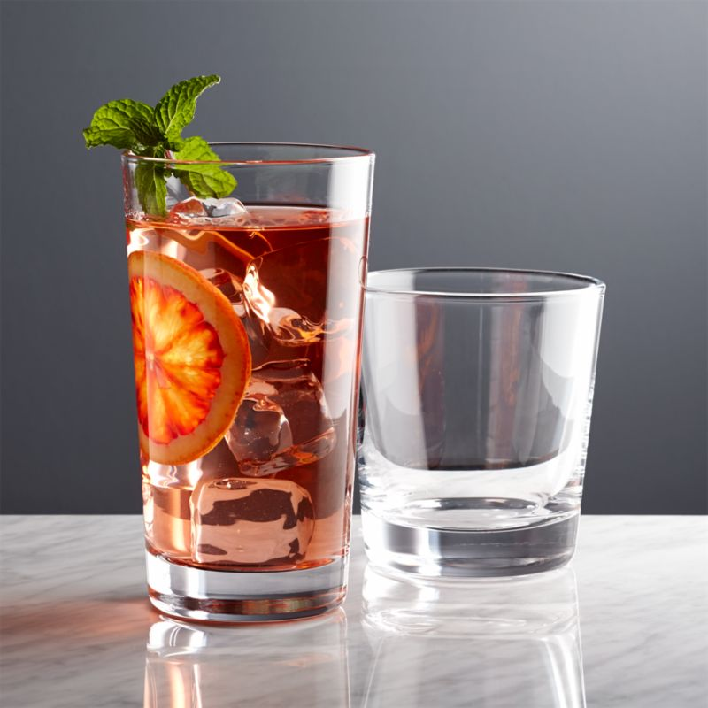 Dylan Old Fashioned Drink Glasses Crate And Barrel