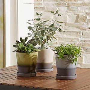 Outdoor Planters  Pots and Garden Tools   Crate and Barrel Dyp Two Tone Planters