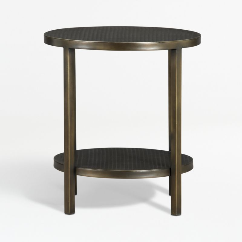 echelon round side table reviews crate and barrel