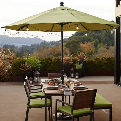 Patio Umbrella Globe LED String Lights   Reviews   Crate and Barrel