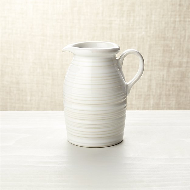 Farmhouse White Syrup Pitcher Crate And Barrel