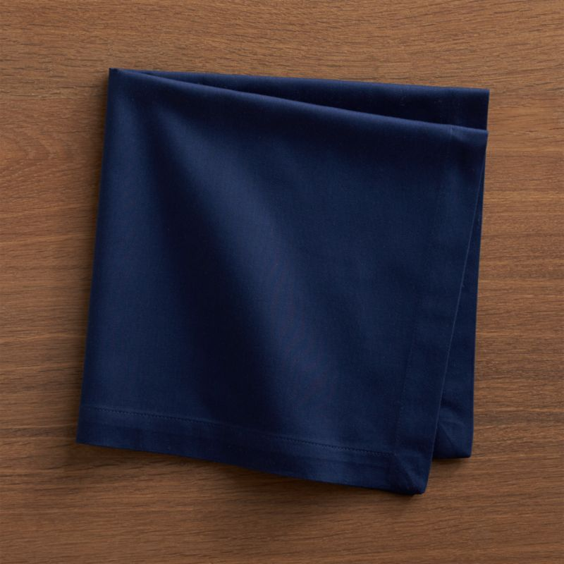 Fete Navy Blue Cloth Napkin Reviews Crate And Barrel