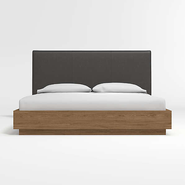 leather beds crate and barrel