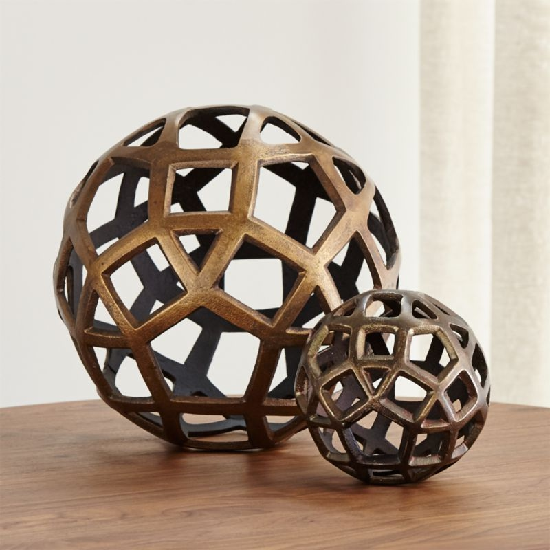 Geo Decorative Metal Balls Crate And Barrel