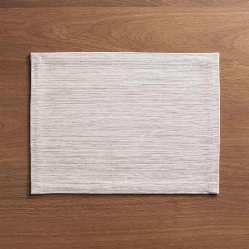 Grasscloth White Cotton Placemat Reviews Crate And Barrel