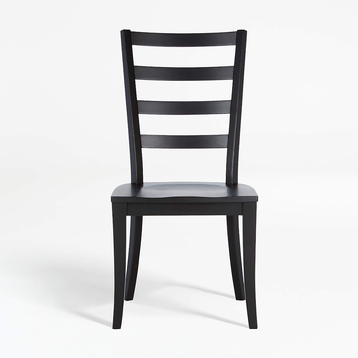 Harper Black Ladder Back Dining Chair Reviews Crate And Barrel