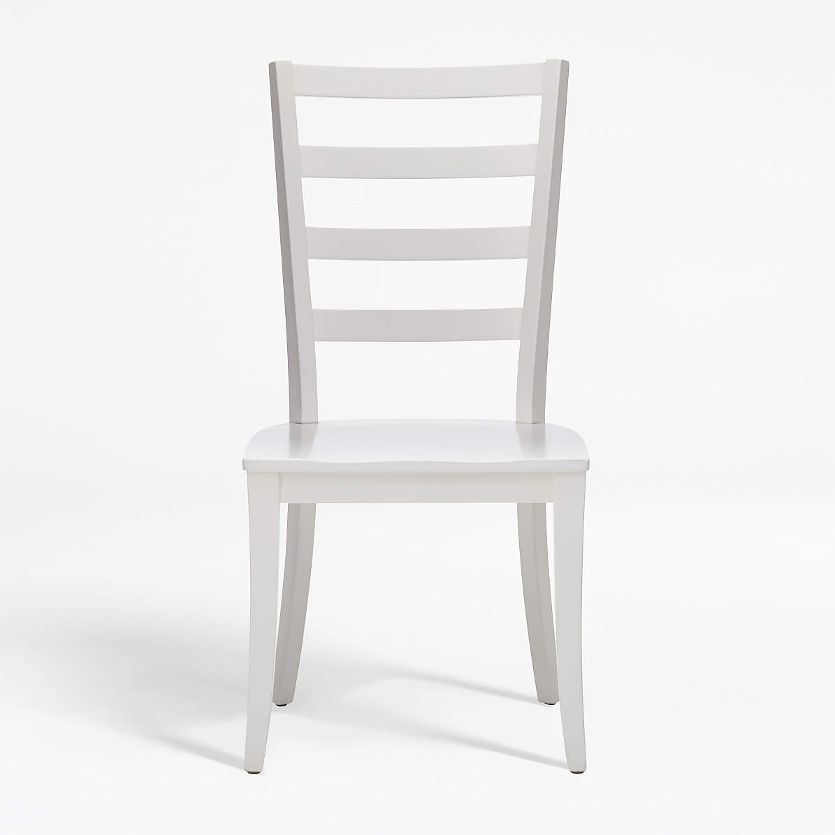 Harper White Ladder Back Dining Chair Reviews Crate And Barrel