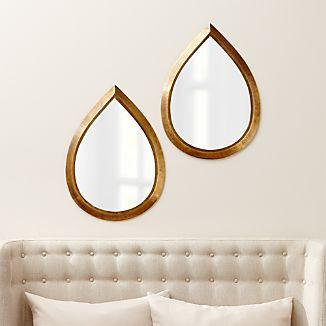 Set Of 2 Kasbah Teardrop Br Wall Mirrors