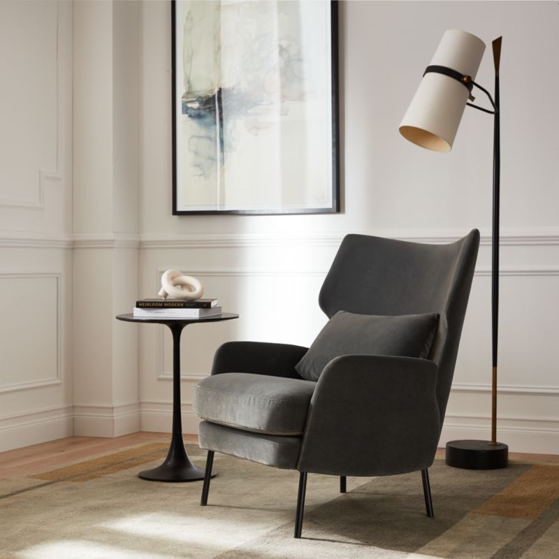 Riston Floor Lamp + Reviews   Crate and Barrel on Riston Floor Lamp  id=15121