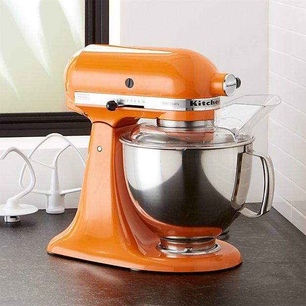 KitchenAid Artisan Tangerine Stand Mixer Crate And Barrel