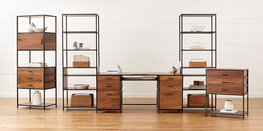 Modular Office Furniture   Crate and Barrel Knox Modular Home Office Collection
