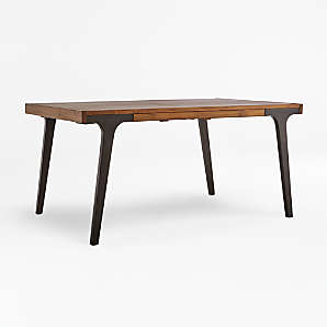 wood dining tables crate and barrel