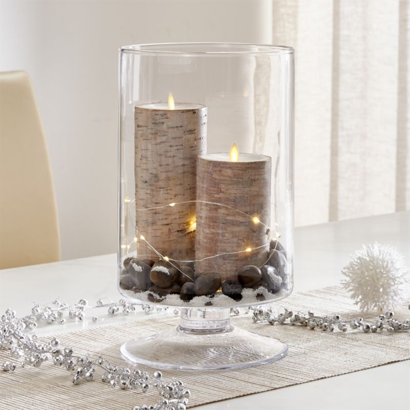 London Large Clear Hurricane Candle Holder Crate And Barrel